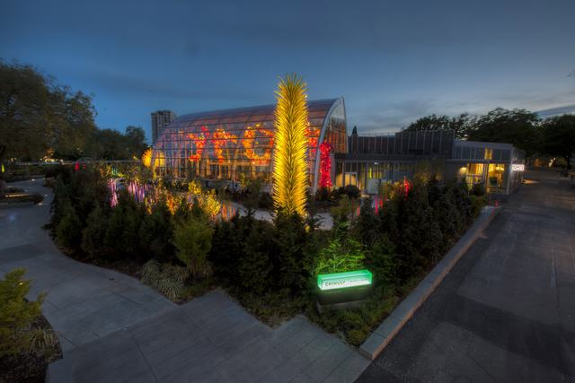 Exterior view of Chihuly Garden and Glass