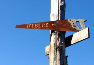 Iceberg Point trail marker