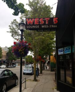 West 5 in the West Seattle Junction. Photo by T. Wickersham.