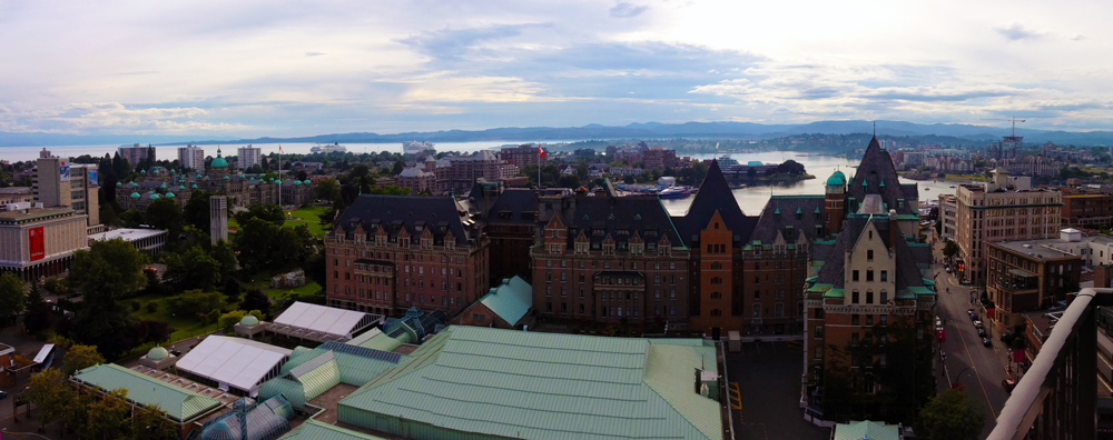 View of Victoria, BC from the Executive House Hotel. Photo by Kristin Kruger