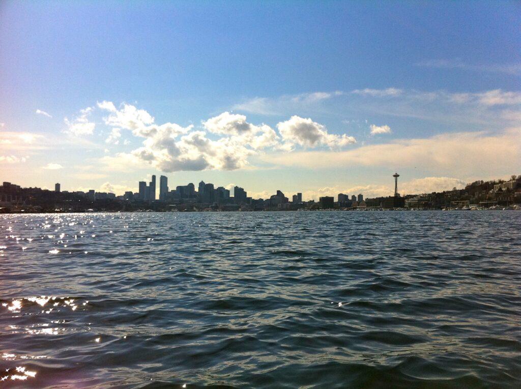 Seattle City Skyline from Lake Union