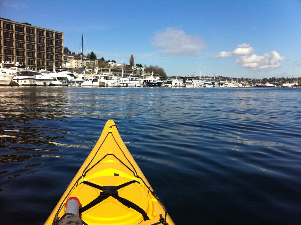 Looking North Along the West Edge of Lake Union