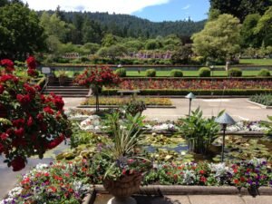 Butchart Gardens is a 30-minute drive from downtown Victoria. Luckily, tour buses are standing by for you right in front of the Empress Hotel. Photo by Kristin Kruger