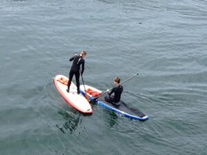 Paddleboarding Shilshole Bay - photo by Cindy Howard