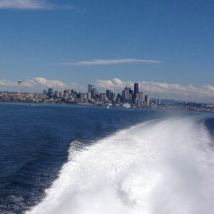 The view of Seattle from the Victoria Clipper makes the journey part of the adventure. Photo by Kristin Kruger