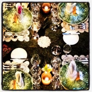Table setting at The Herbfarm.  Taken by Danielle Decker