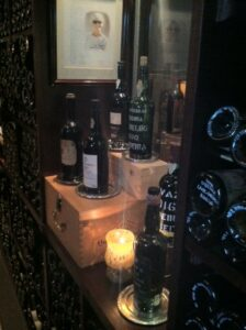 Wine Cellar at The Herbfarm.  Photo taken by Kim Edwards.