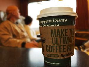 "The cardboard heat sleeves beckoned us back to Seattle for ""The Ultimate Coffee Run"" with 2 Days in Seattle. :)"