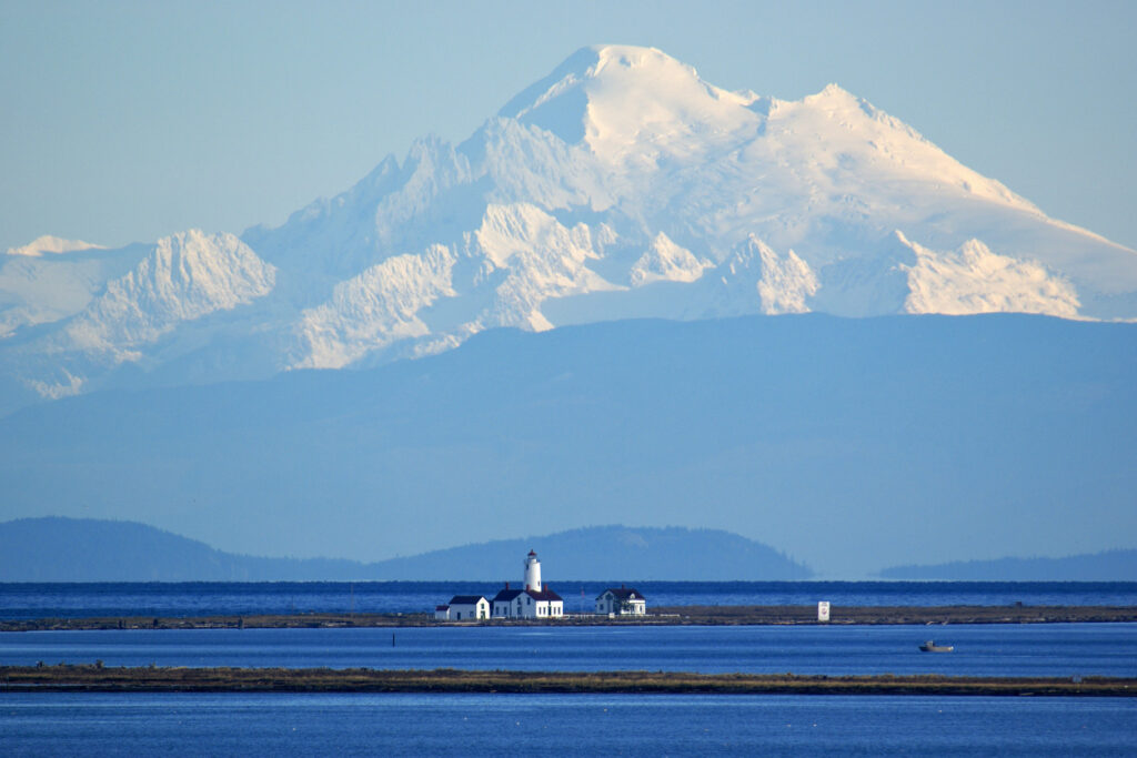 Dungeness Spit with Mount Baker in the Background