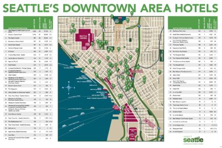 Seattle Washington Map Tourist.Maps Logistics Visit Seattle