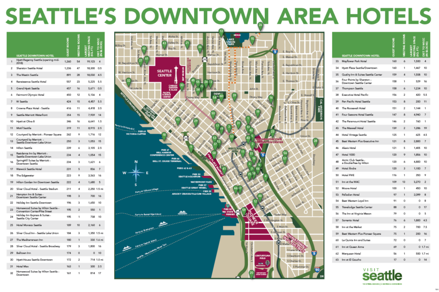 Maps and Logistics – Seattle Tourist Map