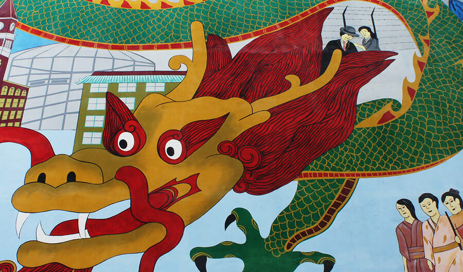 Dragon Mural in Seattle's International District
