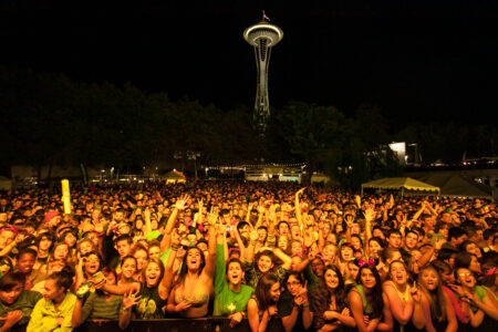 Crowd of Screaming Fans at Bumbershoot 2012