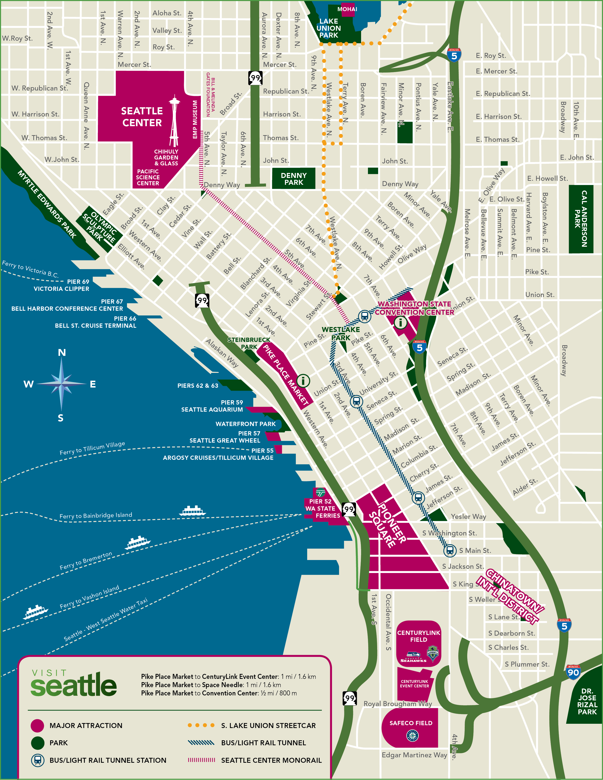 Custom Seattle Map | Visit Seattle