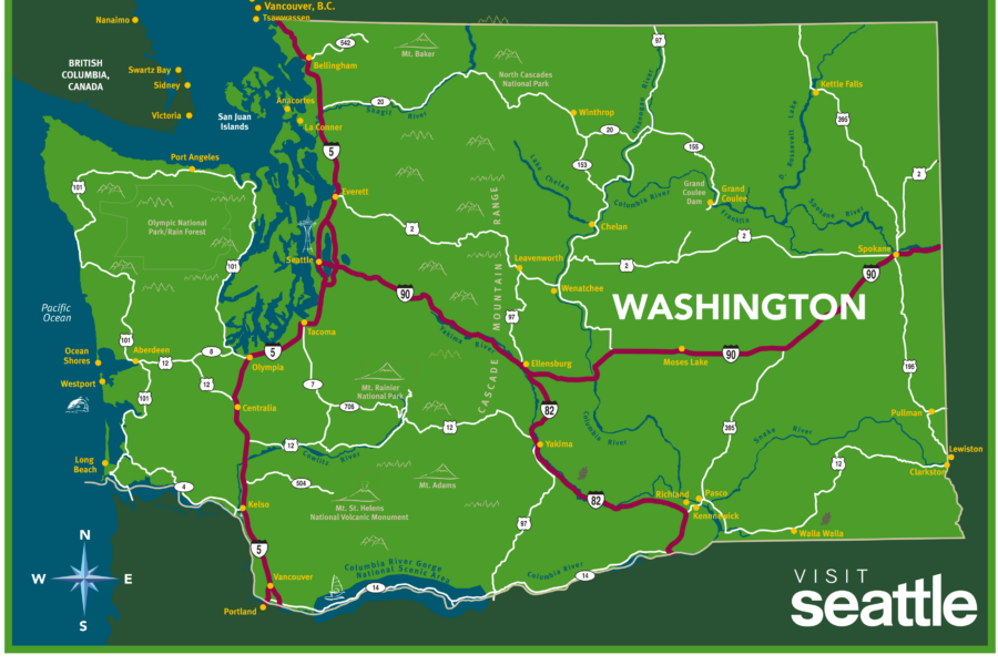 Visit Seattle WA Map