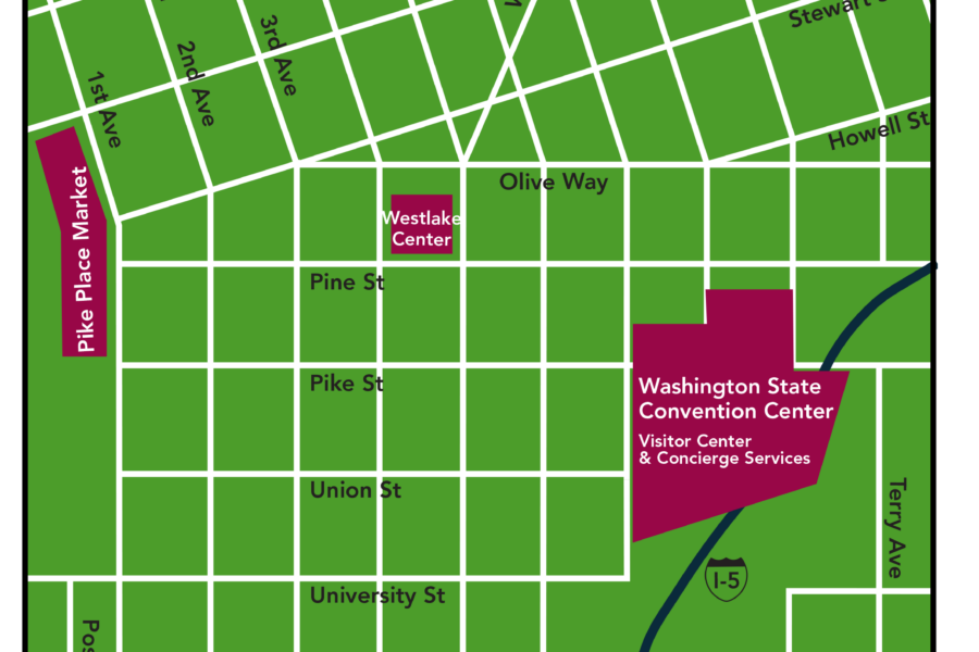 Visit Seattle WSCC Map