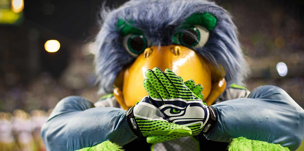 Seahawks mascot Blitz