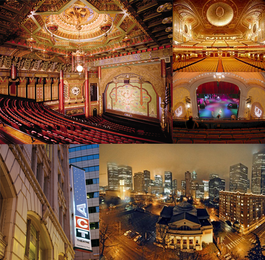 The Five Theatres of Seattle's Historic Theatre District