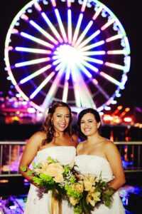 Marry Me in Seattle contest winners Claudia and Andrea tie the knot in 2014. Photo by Kristen Marie Photography