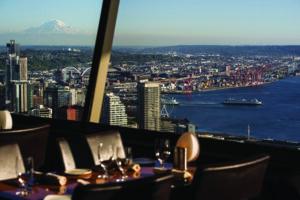 Sky City: Elliott Bay & Rainier