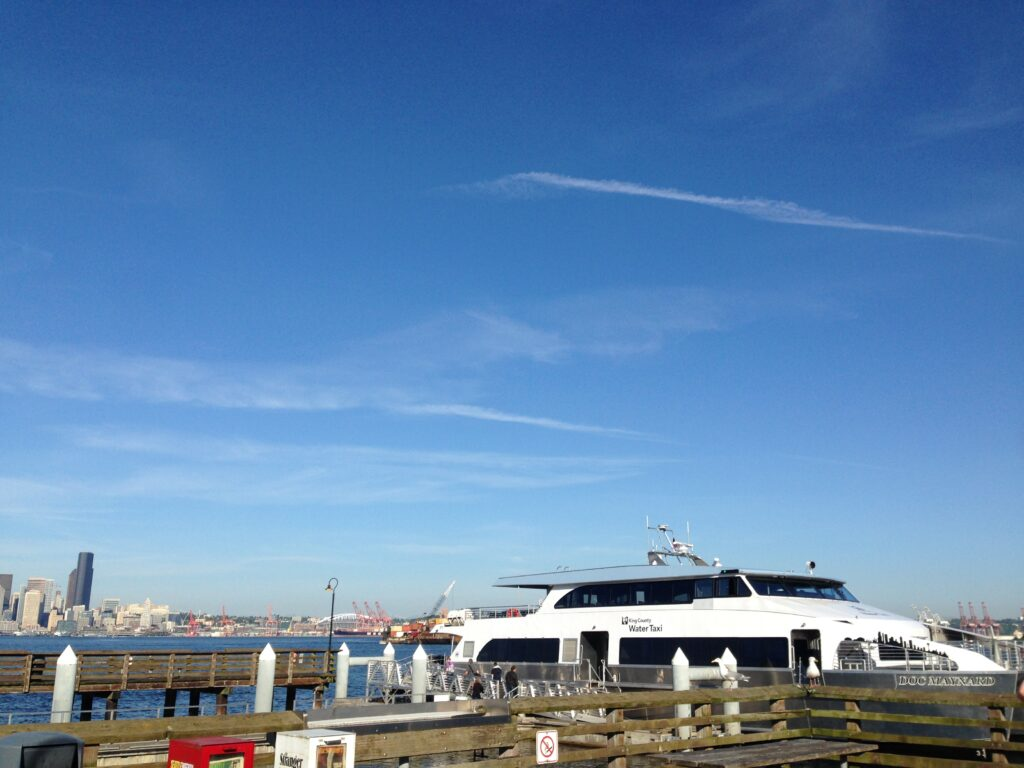 A speedy 10-minute journey brings me to Seacrest Dock on the West Seattle side. Photo: Margaux Helm.