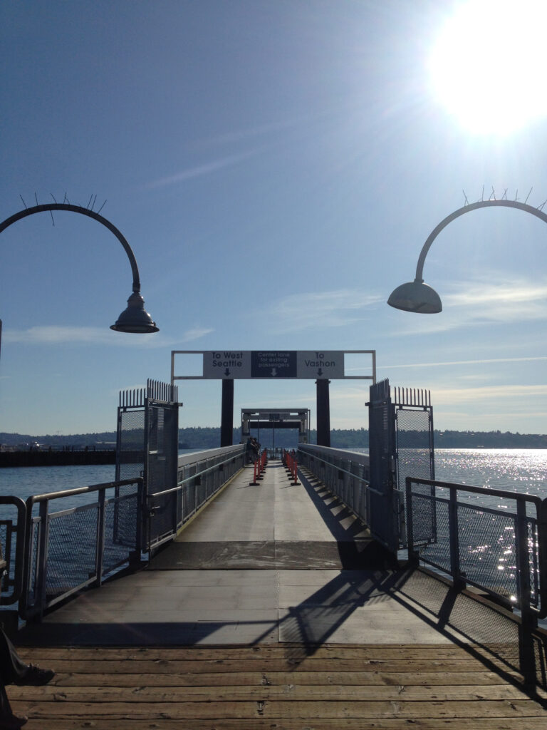 Awaiting the water taxi at Pier 50 in downtown Seattle. Photo: Margaux Helm.
