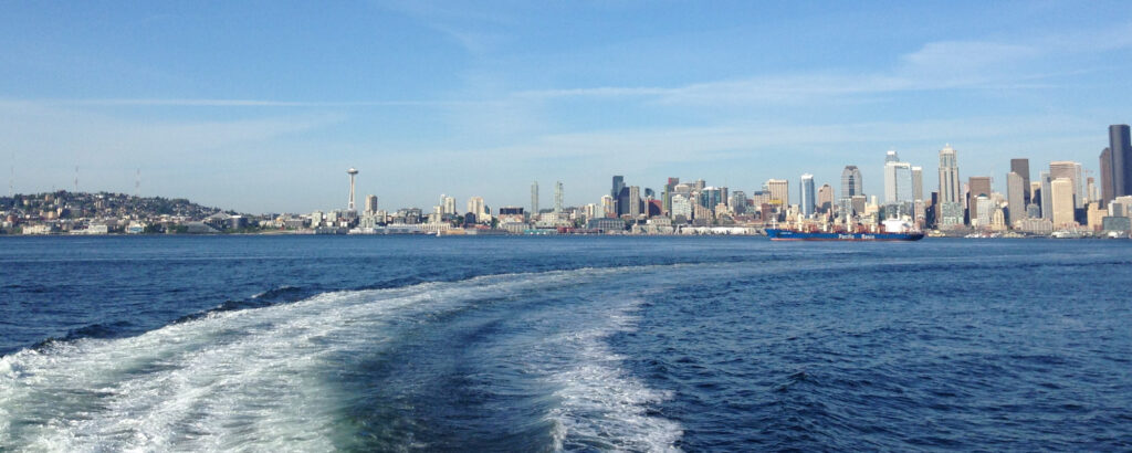 Skyline views abound en route to West Seattle. Photo: Margaux Helm.