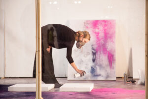 Addie Wagenknecht performs Black Hawk Powder at the 2015 Seattle Art Fair, presented by bitforms gallery.