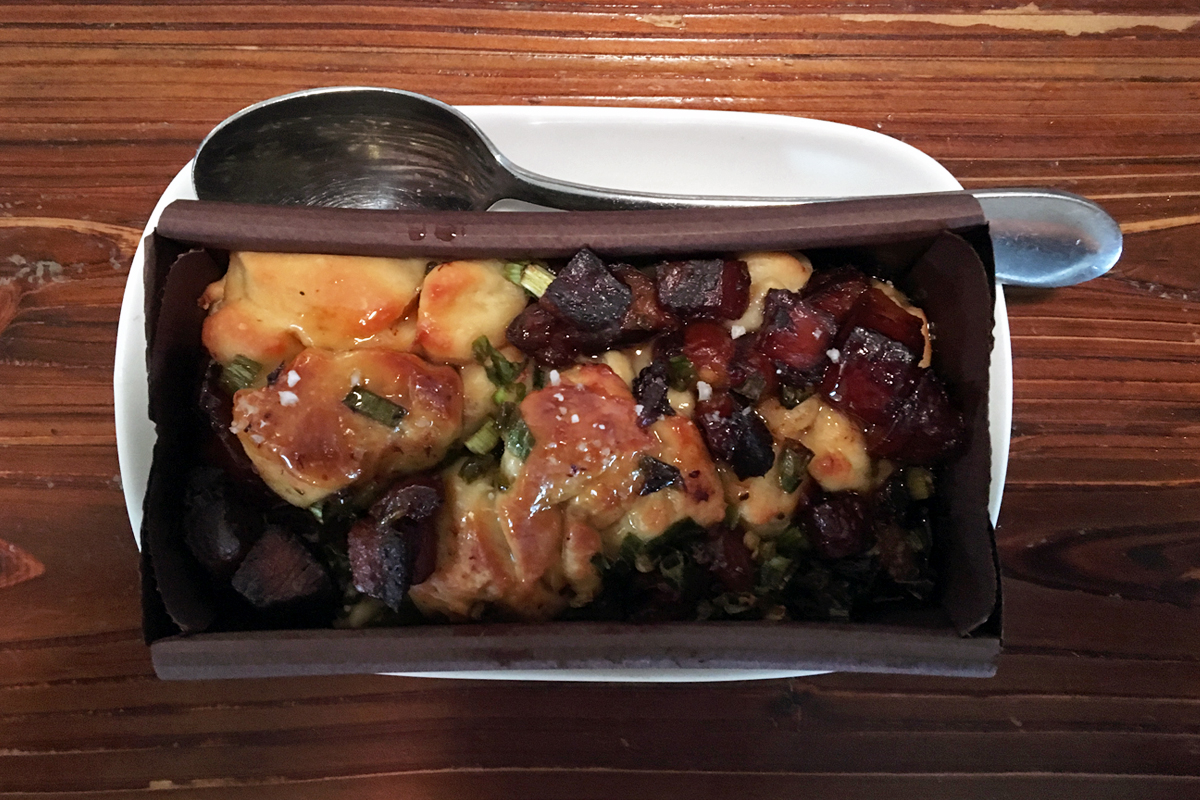 My new favorite food. Chef Yang's pork belly jalapeno monkey bread.