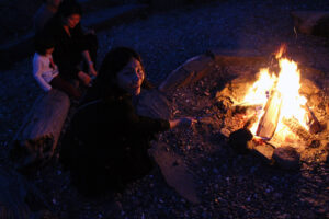 Time for s'mores!Photo: Min Guo