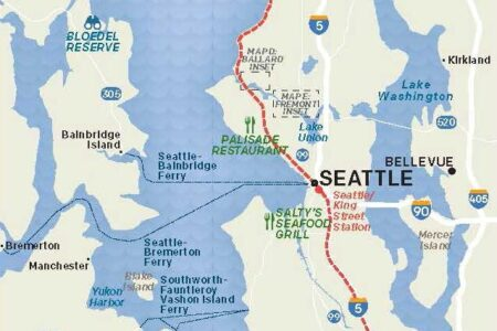 Washington State Map Seattle.Maps Visit Seattle