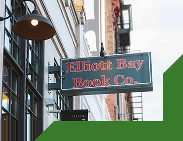 Signage for Elliott Bay Book Co.